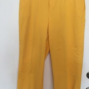 COLDWATER CREEK BRIGHT YELLOW ANKLE PANTS. SZ. 12.